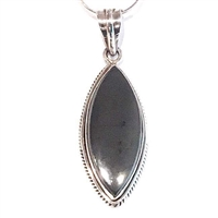 Sterling Silver Pendant- Hematite