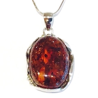 Sterling Silver Pendant- Baltic Amber