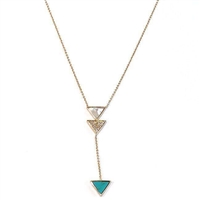 Triangle Inlay Necklace by Twistals