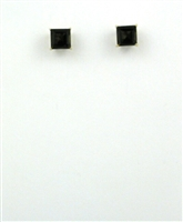 10k Gold Post Earrings- Smoky Quartz