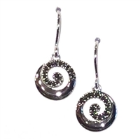 Sterling Silver Marcasite Dangle Earrings