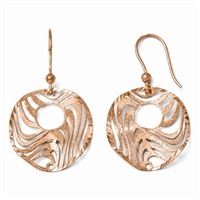 14K Rose Gold Filled Laser Cut Earrings