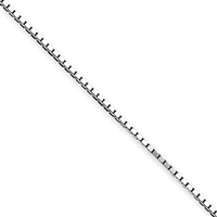 1mm Box Chain-Sterling Silver-24""