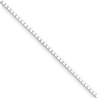 1.25 mm Box Chain-Sterling Silver-18""