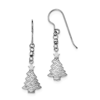Sterling Silver Dangle Earring- Christmas Tree