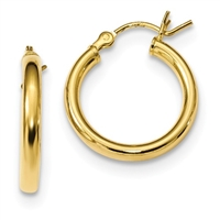 14K Gold-Filled Polished Hoop Earrings