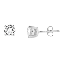 5mm Round CZ Post Earrings-Sterling SIlver
