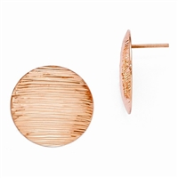 14K Rose Gold Filled Button Post Earrings