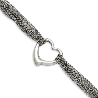 Stainless Steel Multi Row Bracelet