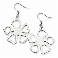 Stainless Steel Flower Power Earrings