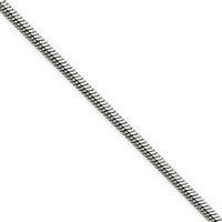 "Stainless Steel Snake Chain- 24""- 2mm"