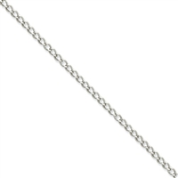 3mm Stainless Steel Curb Link Chain- 18""