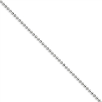 "Stainless Steel Ball Chain- 22""- 2.4mm"