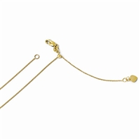14k Yellow Gold Round Cable Adjustable Chain
