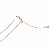 14k Rose Gold Box Adjustable Chain