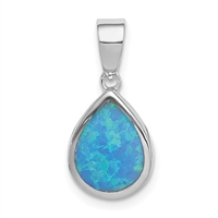 Sterling Silver Pendant- Lab Created Opal