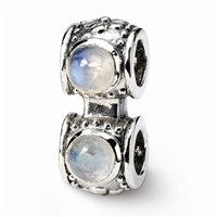Reflections- Bracelet Connector Bead-Rainbow Moonstone