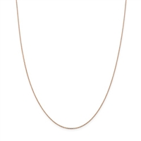 14k Rose Gold Cable Chain-18""