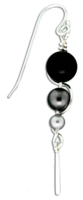 "Sterling Silver ""One Long Climb"" Pearl Earrings"
