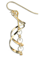 "Gold Fill ""Pearl Haven"" Earrings"
