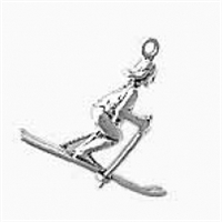 Sterling Silver Charm-Female Skier