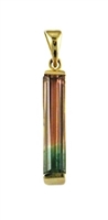 14k Gold Pendant- Watermelon Tourmaline