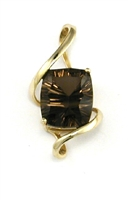 14k Gold Pendant- Smoky Quartz