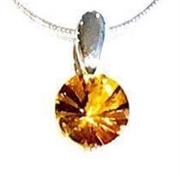 Sterling Silver Pendant- Citrine
