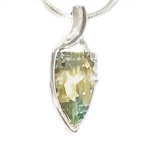 Sterling Silver Pendant-Green Amethyst