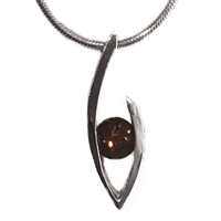 Sterling Silver Slide/Pendant-Smoky Quartz