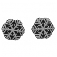 Sterling Silver Post Earring-Medium Snowflake