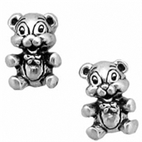 Sterling Silver Post Earring-Teddy Bear