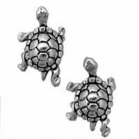 Sterling Silver Post Earring-Turtle