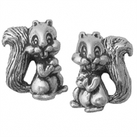 Sterling Silver Post Earring-Squirrel