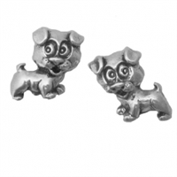 Sterling Silver Post Earring-Puppy