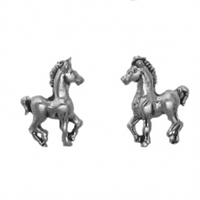Sterling Silver Post Earring-Colt