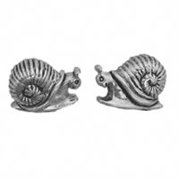 Sterling Silver Post Earring-Snail
