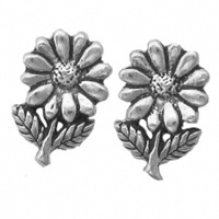 Sterling Silver Post Earring-Flower