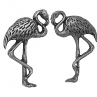 Sterling Silver Post Earring-Flamingo