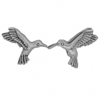 Sterling Silver Post Earring-Hummingbird