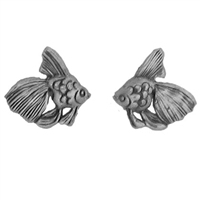 Sterling Silver Post Earring-Angel Fish