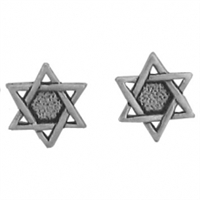 Sterling Silver Post Earring-Star of David
