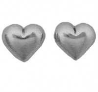 Sterling Silver Post Earring-Heart