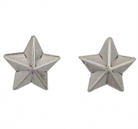 Sterling Silver Post Earring-Star