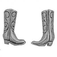 Sterling Silver Post Earring-Cowboy Boot