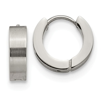 "Stainless Steel ""Huggie"" Earrings"