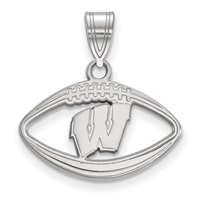 "University of Wisconsin- ""Motion W""  Football Pendant"