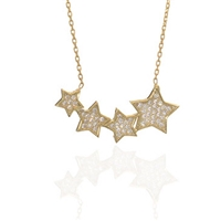 "22k Gold Plated Necklace -""4 Star"""