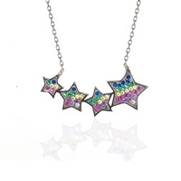 "Sterling Silver Necklace -""4 Star"""