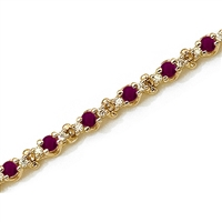 14K Ruby & Diamond Bracelet